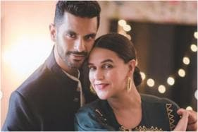 Neha Dhupia's on Her Birthday Trip in Maldives with Husband Angad Bedi and Baby Mehr