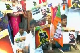 BJP Stages Protest Against The Grand Celebration Of Tipu Sultan's Birth Anniversary