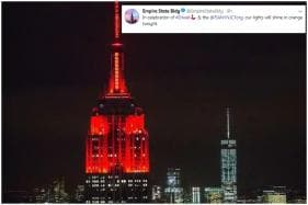 Watch: NYC's Empire State Building Glowed Bright Orange to Celebrate Diwali