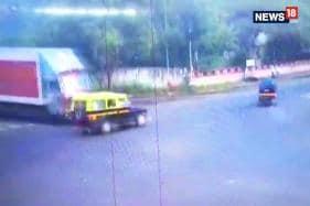 Caught On Camera: Truck Collision in Nashik