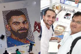 Virat Shining: Mumbai Artist Creates World's 'Largest' Diya Portrait as a Birthday Gift to Virat Kohli