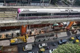 Bengaluru Metro Pillar Near Trinity Station Develops Cracks, Commuters Face Trouble as Trains Slow Down