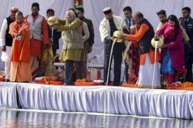 Kumbh Mela: President Kovind, First Lady Participate in 'Ganga Pujan' at Sangam