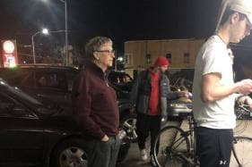 Billionaire Bill Gates Waits in Line For a Burger Just Like the Rest of Us
