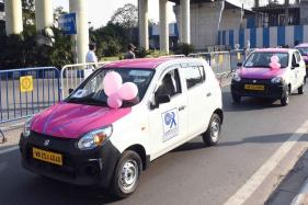 Bengal CM Mamata Banerjee Launches Woman Only Pink Cabs In Kolkata
