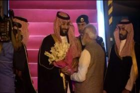 Saudi Arabia Crown Prince Mohammed Bin Salman arrives in Delhi for a day visit