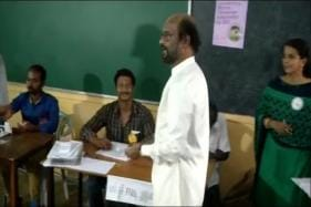 Elections 2019: Superstar Rajinikanth Casts His Vote In Chennai