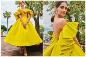 Sonam Kapoor Stuns in Flared Yellow Gown, Unveils Chopard's Garden of Kings Collection at Cannes