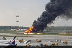Aeroflot Sukhoi Superjet Blows Into Fire After Making Emergency Landing at Moscow Airport - Watch Video