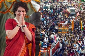 Pictures from Priyanka Gandhi Vadra's Mega Roadshow in Varanasi