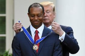Tiger Woods Receives Presidential Medal of Freedom from US President Donald Trump
