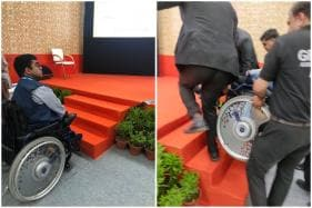 Panel on Making Cities Disabled-Friendly Invites Activist on Wheelchair, Forgets to Install Ramp