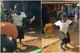 Watch: Ugandan Woman's Dance of Joy After Being Gifted Her First Ever Shoes is Heartwarming