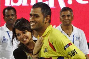 Mrs. Dhoni enjoys cricket, not attention
