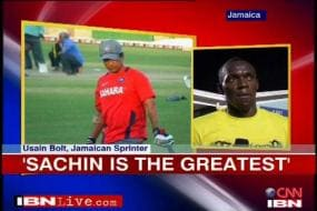 Sachin finds another fan in Usain Bolt