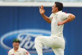 Starc celebrates Test debut with two wickets