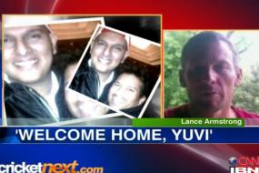 Welcome home, Yuvi: Lance Armstrong