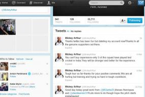 Australia coach Mickey Arthur deletes Twitter account