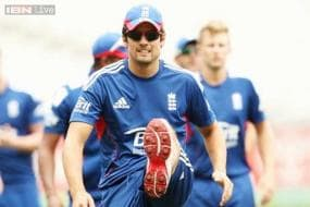Alastair Cook falls to Brett Lee in England's win over PM's XI