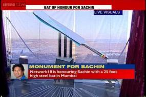 'Bat of Honour' from Network 18 for batting legend Sachin Tendulkar