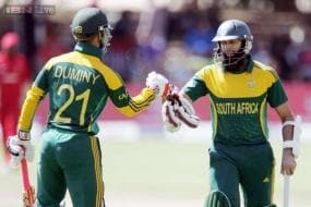1st ODI: Amla scores ton as South Africa ease to a 93-run win over Zimbabwe