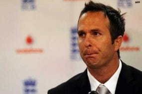 Michael Vaughan tweets picture of 'white Indian cricket flag'
