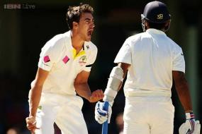 Starc reprimanded for exaggerated celebration after Vijay wicket