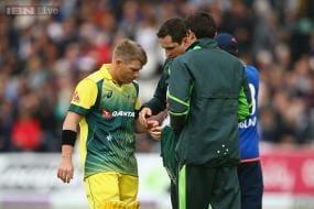 David Warner out of England ODI series with thumb injury