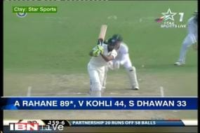 Kotla Test: Rahane steps up amid batting collapse on Day 1