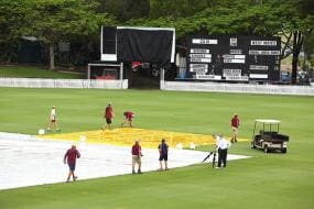 West Indies 154-6 on rain-affected 1st day of tour match