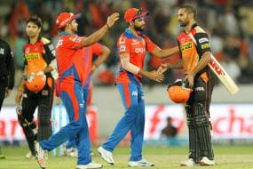Dhawan, Bowlers Help Hyderabad Beat Gujarat By Five Wickets
