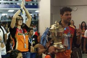 Yuvraj's fiancee Hazel Keech Joins Sunrisers' IPL-9 Title Celebrations