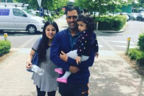 Dhoni Busy Playing Doting Father Ahead of India-Bangladesh Clash