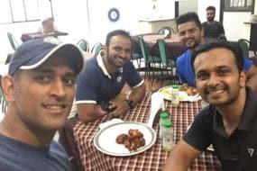 Dhoni, Raina Sweat It Out at National Cricket Academy