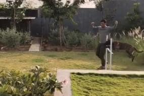 MS Dhoni Takes Time to Train Zoya and Lily in His Backyard