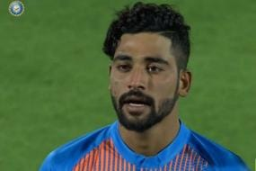 Emotions Get the Better of Mohammed Siraj as He Makes International Debut