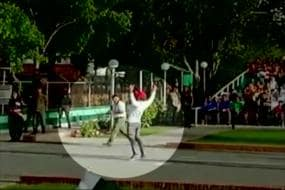 Pak Pacer Hassan Ali Takes His Field Antics to Wagah Border, BSF Not Amused
