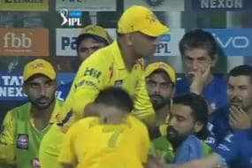 IPL 2018: CSK Fan Breaches Security to Touch Dhoni's Feet