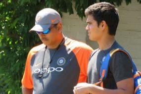 Arjun Tendulkar Trains With Indian Team, Gets Tips From Shastri