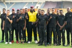 Chris Gayle Felicitated In Presence of Young Members From His Foundation