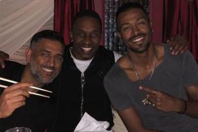 Dwayne Bravo Dines With 'Brothers' MS Dhoni and Hardik Pandya