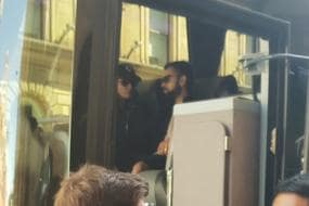 Anushka Sharma Joins Virat Kohli in Team Bus in Cardiff