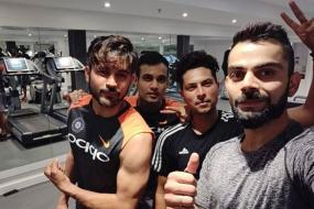 Virat Kohli Has Fun Sweating it Out in the Gym With Teammates