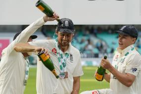Alastair Cook and Co. Celebrate Test Win Over Team India