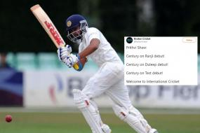 'He Came, He Shaw, He Conquered': Prithvi Shaw's Maiden Test Ton on Debut Has Got Twitter Cheering