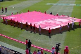 Indian Cricket Team Presents Glenn McGrath Signed Pink Caps For His Foundation