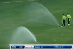 Afghanistan-Ireland T20I Interrupted by Water Sprinklers