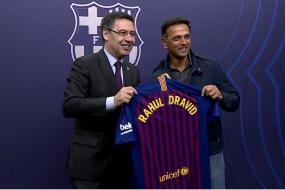Dravid Left Mesmerised by Messi & Barcelona Show at Camp Nou