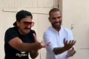 IPL 2019 | Shikhar Dhawan Shows Off Dance Moves With Ranveer Singh