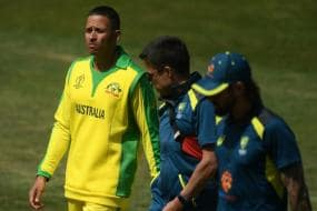 ICC World Cup 2019 | Khawaja Cops Blow on Head in Warm-Up Game Against Windies